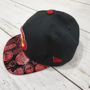 9fifty Accessories - Houston Rockets Hat Cap Snapback Black Red
